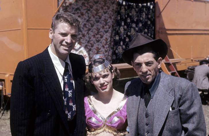 Burt Lancaster with American Circus