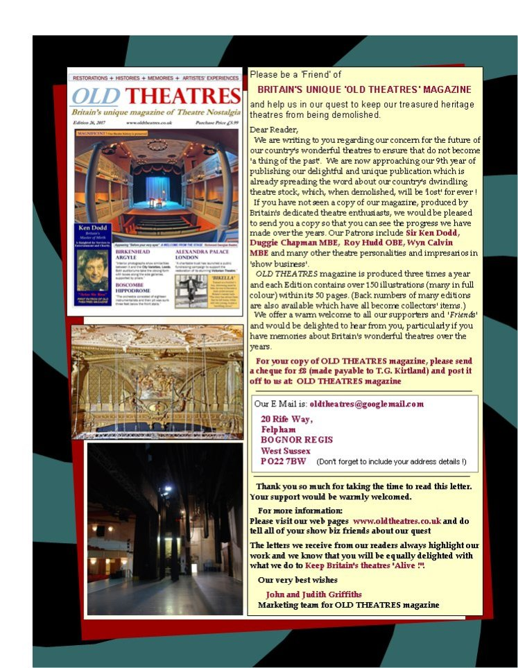 Old Theatres Magazine