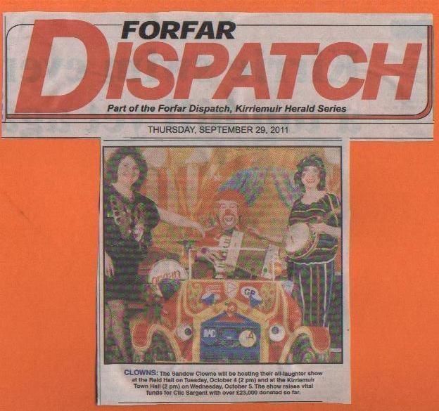 Forfar Dispatch Sandow Clowns