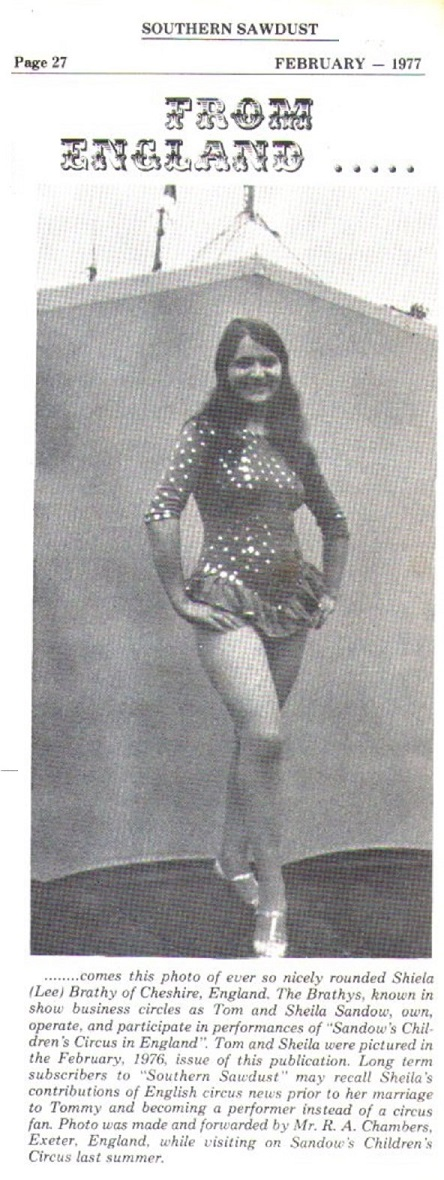 The Sandow Family Circus Variety History – Part Sixteen