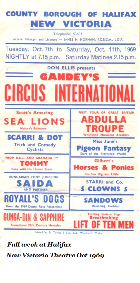 The Sandow Family Circus Variety History – Part Twelve