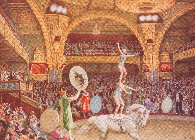 Fortunio Matania Blackpool Tower Circus Painting